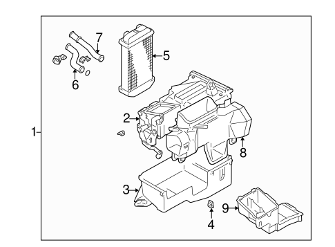 HVAC/HEATER COMPONENTS for 1998 Toyota 4Runner #2