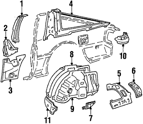Support - Toyota (61748-14060)
