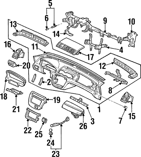 OEM Honda 77218-SL5-A00ZA - Instrument Panel Side Cover