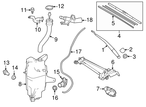 BODY/WIPER & WASHER COMPONENTS for 2015 Toyota RAV4 #1