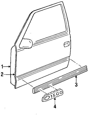 oem door  u0026 components for 1998 chevrolet tahoe