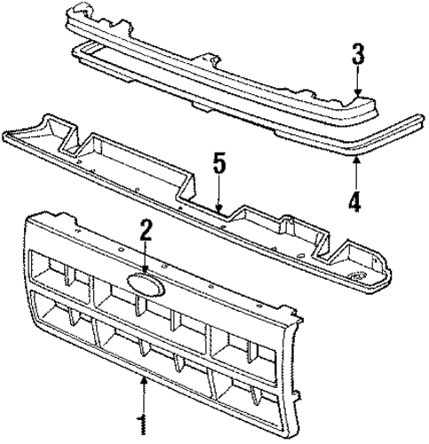 grille  u0026 components for 1990 ford bronco ii