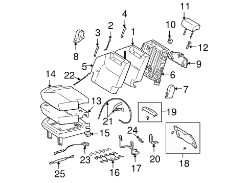 BODY/REAR SEAT COMPONENTS for 2007 Toyota Sienna #4