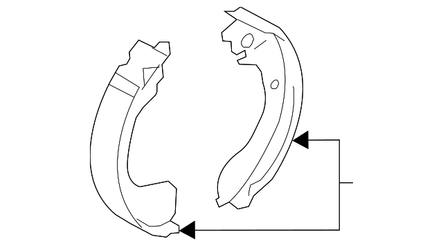 Brake Shoes - Nissan (D4060-3VA0B)