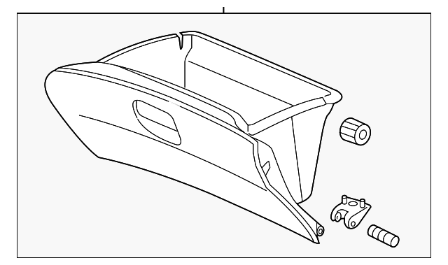 OEM Honda 77500-TR0-A01ZB - Glove Box Assembly