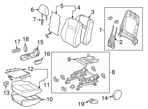 BODY/PASSENGER SEAT COMPONENTS for 2016 Toyota Camry #1
