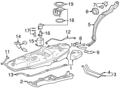 FUEL SYSTEM/FUEL SYSTEM COMPONENTS for 2015 Toyota RAV4 #2