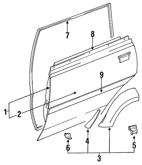 Door Shell - Toyota (67003-60111)
