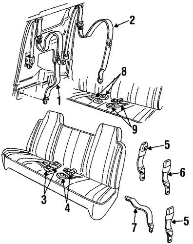 seat belt for 1998 dodge ram 2500 parts