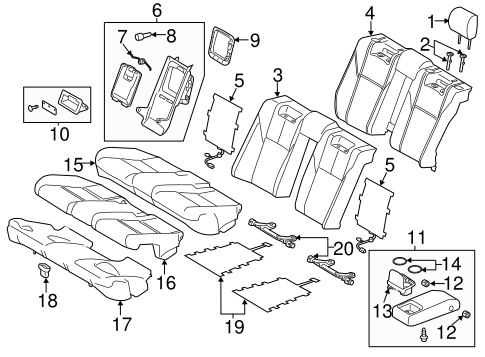 BODY/REAR SEAT COMPONENTS for 2015 Toyota Avalon #1