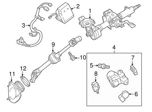 STEERING/STEERING COLUMN ASSEMBLY for 2013 Toyota Camry #1