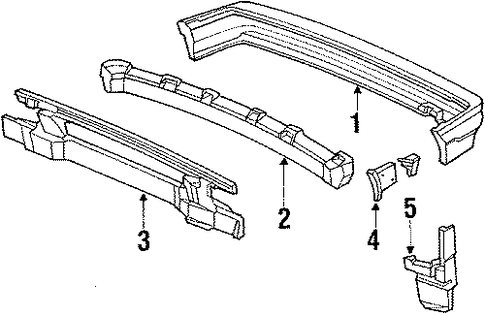 1989 Honda CIVIC SEDAN DX Slide, R Rear Bumper Corner - (71591SH3010)