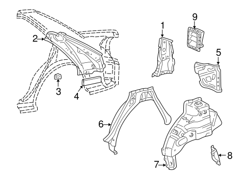 BODY/INNER STRUCTURE for 1999 Toyota Camry #1