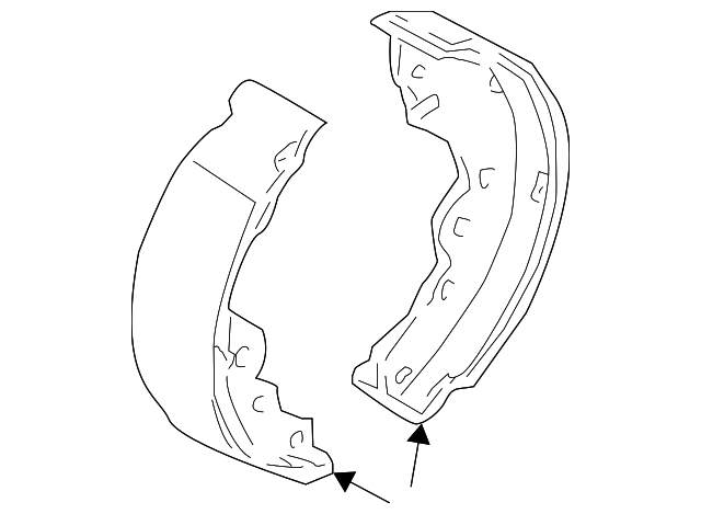 Brake Shoes - Nissan (44060-4M425)