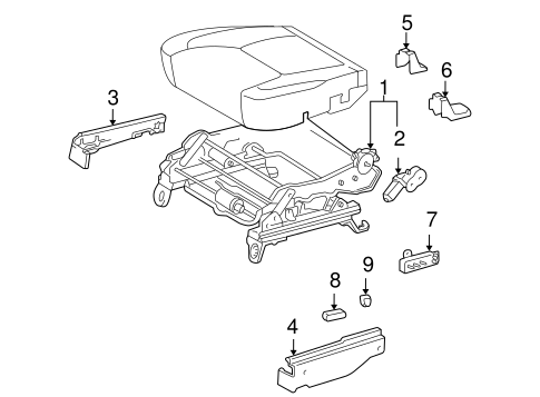 BODY/TRACKS & COMPONENTS for 2004 Toyota Sienna #5