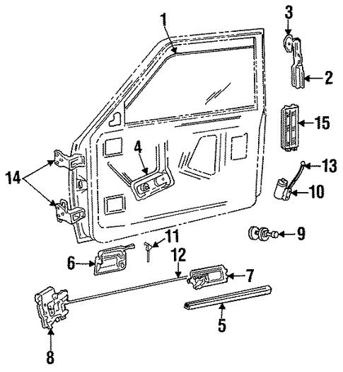 Dodge Dynasty 1993 Door Lock Kit: Vent Louver For 1989 Dodge Dakota : Potamkin Parts