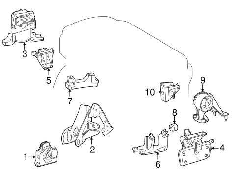 Rear Mount Bracket - Toyota (12321-0V020)