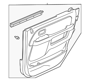 OEM Honda 83733-SCA-A03ZD - Lining, R Rear Door (Type A) (Black)