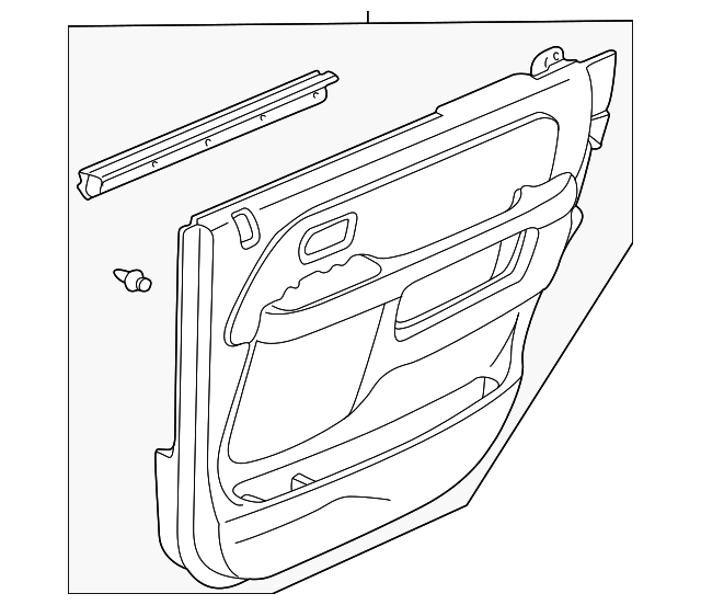 OEM Honda 83783-S9A-A02ZD - Lining, L Rear Door (Type A) (Black)