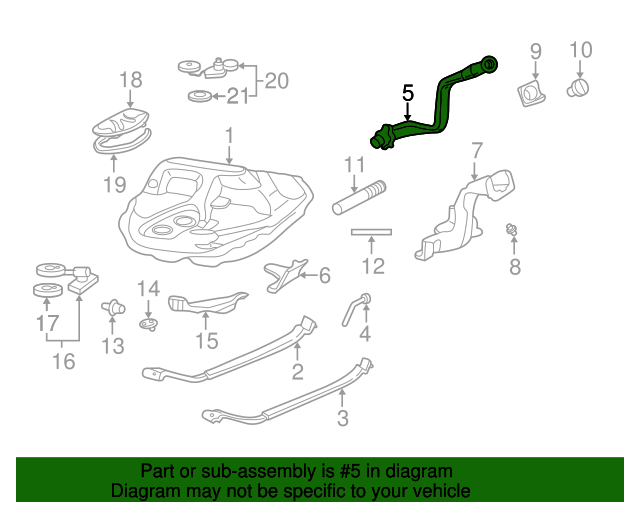 1997 Honda CIVIC SEDAN LX (A/C) KIT, FUEL FILLER PIPE - (06170S04A00)