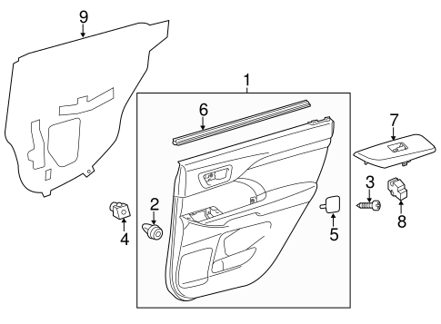 Door Trim Panel - Toyota (67630-0E740-C1)