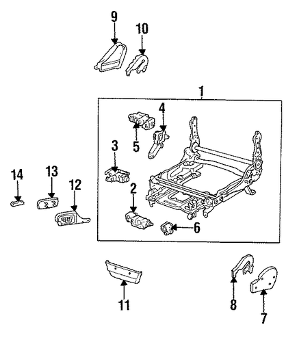 genuine oem power seat tracks  u0026 components parts for 1994 toyota land cruiser base