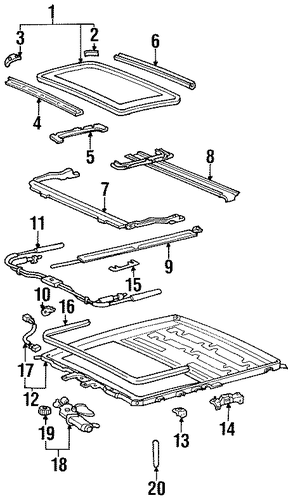 Guide Rail Cover - Toyota (63256-60011)