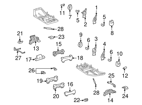 BODY/TRACKS & COMPONENTS for 1999 Toyota Land Cruiser #3