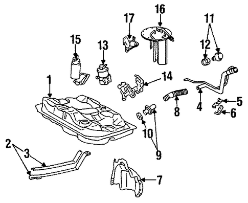 ELECTRICAL/SENDERS for 1996 Toyota Corolla #1