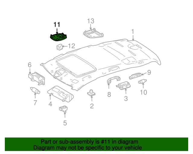 16482013859051 map lamp genuine mercedes benz oem for Mercedes benz parts and accessories online