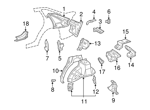 BODY/INNER STRUCTURE for 2002 Toyota Avalon #1