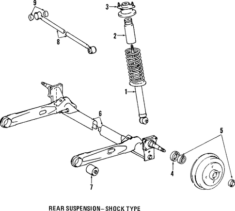 REAR SUSPENSION/REAR AXLE for 1996 Toyota Paseo #1