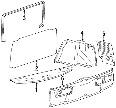 Luggage Compartment - Toyota (64072-20100)