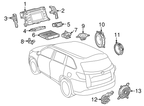 BODY/SOUND SYSTEM for 2016 Toyota Highlander #1