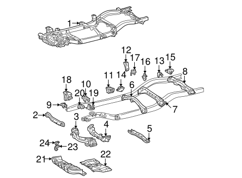 BODY/FRAME & COMPONENTS for 1996 Toyota Tacoma #2