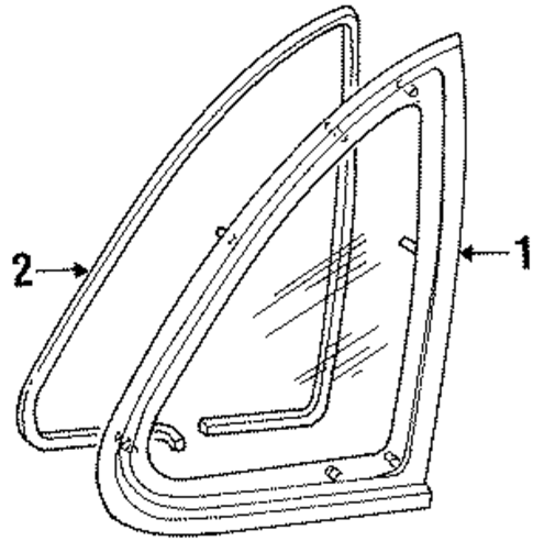glass  u0026 hardware for 1996 ford crown victoria