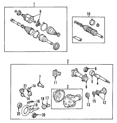 FRONT SUSPENSION/CARRIER & FRONT AXLES for 1996 Toyota 4Runner #1
