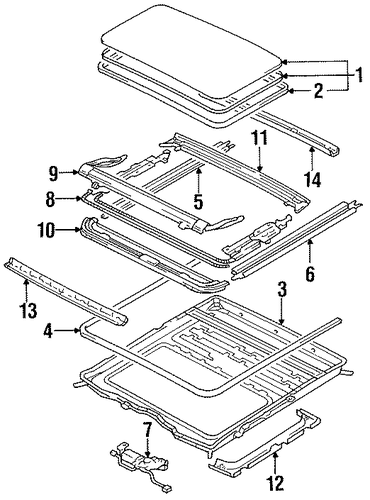 Guide Rail - Toyota (63208-22021)