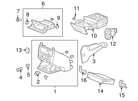 OEM Honda 90666-SD4-003 - Instrument Panel Clip