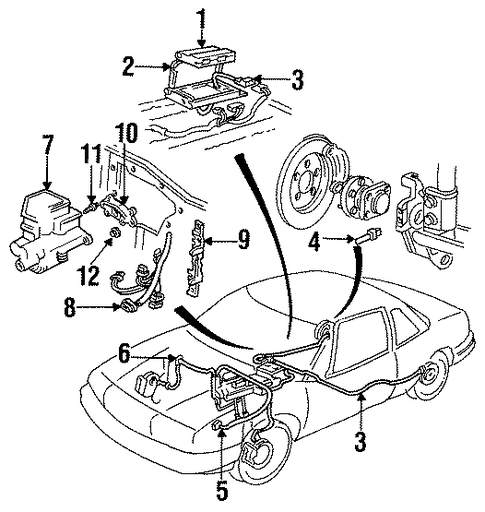 abs components for 1990 oldsmobile cutlass supreme  base