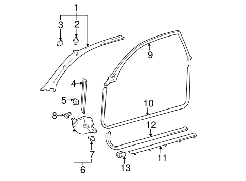 Sill Trim Clamp - Toyota (62567-06010)