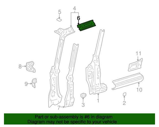 Roof Rail - Toyota (61232-42010)
