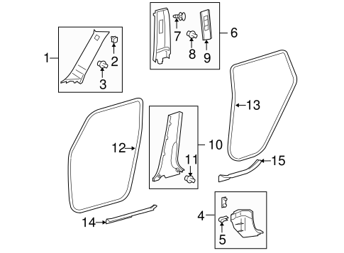 Lower Center Pillar Trim - Toyota (62413-12300-B0)