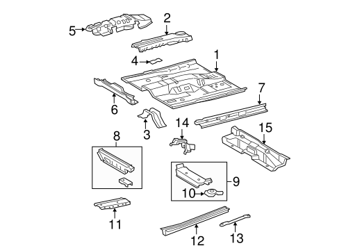 Floor Crossmember - Toyota (57454-07902)