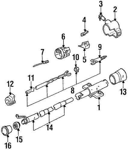 oem steering column assembly for 1991 oldsmobile silhouette