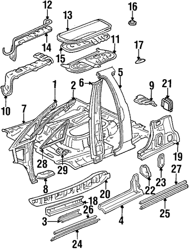 Foot Rest - Toyota (58192-95D00)
