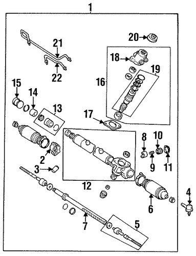 STEERING/STEERING GEAR & LINKAGE for 1999 Toyota Avalon #2