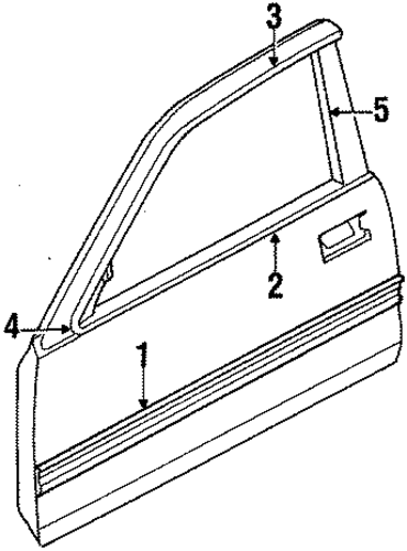 OEM Honda 75865-SF0-000 - Reveal Molding