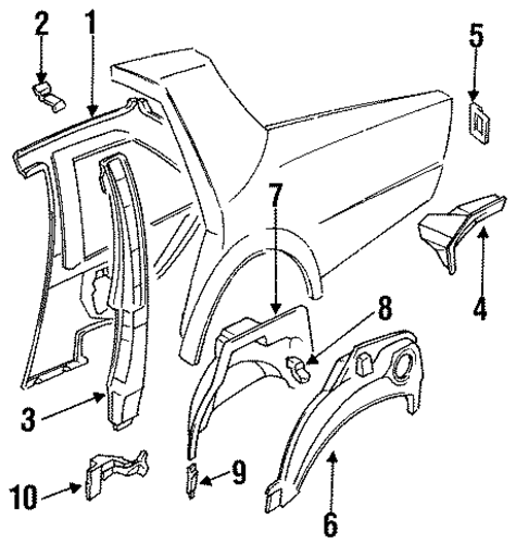 inner structure for 1994 nissan sentra