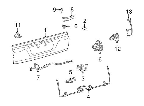 Tail Gate - Toyota (65061-60320)